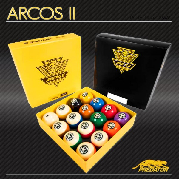 "SET BILIE ""POOL"" PREDATOR [ ARCOS II ] 57,2 MM"