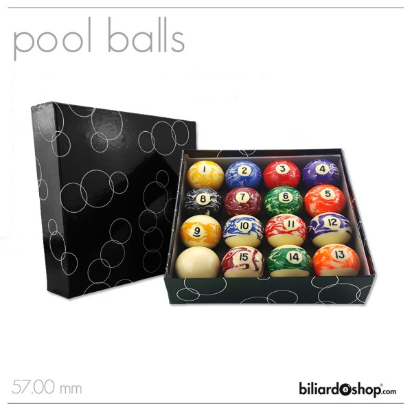 SET BILIE POOL MARMORIZZATE BS 57,0 MM